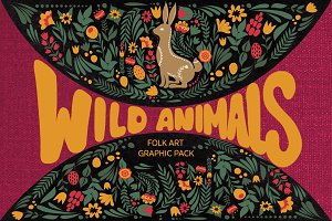 Wild Animals folk art set