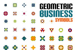 Geometric business symbols set 3