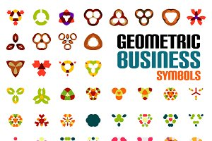 Geometric business symbols set 2