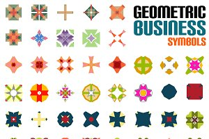 Geometric business symbols set 1