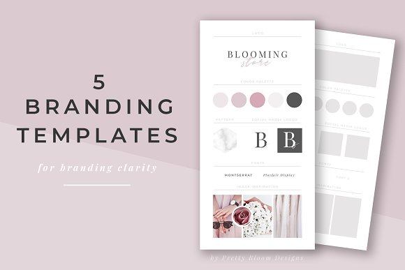 Branding & Mood Board Templates ~ Stationery Templates ~ Creative Market