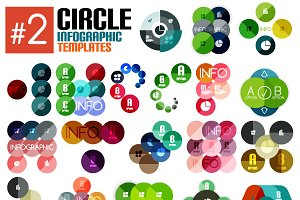 Circle infographic templates