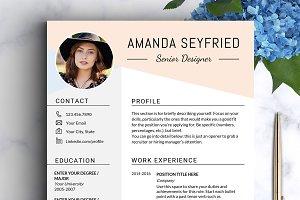 Feminine Resume Template / CV