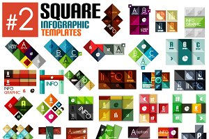 Set of square infographic templates