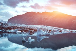 Glacial lagoon in Iceland
