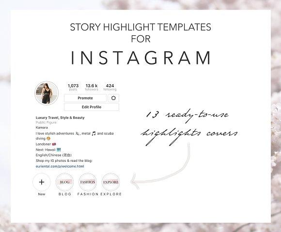 Instagram Story Highlights - Pink