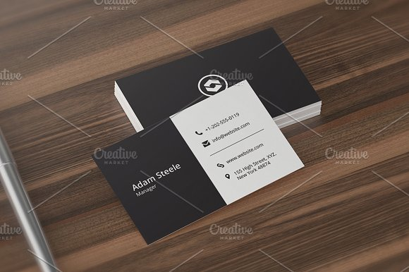 7 clean minimal business cards business card templates creative 7 clean minimal business cards business card templates creative market reheart Gallery