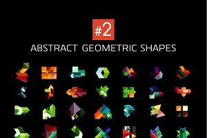 Abstract geometric shapes collection