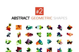 Abstract geometric shapes set 2
