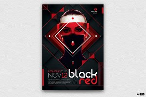 Black and Red Flyer Template V4