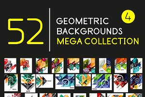 Mega set of geometric backgrounds