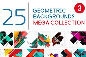 25 geometric backgrounds