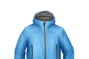 Blue softshell unisex sport jacket