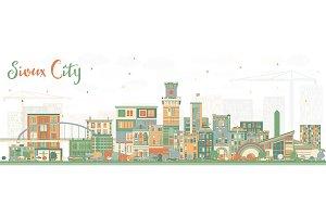 Sioux City Iowa Skyline