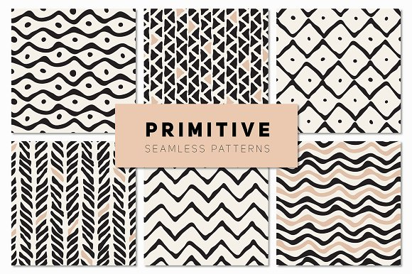 Primitive Seamless Patterns Set