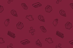 Black friday isometric pattern