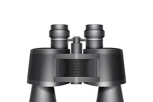 Black travel binoculars