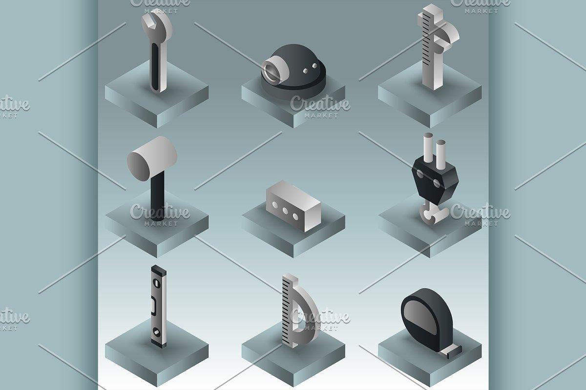Building gradient isometric icons