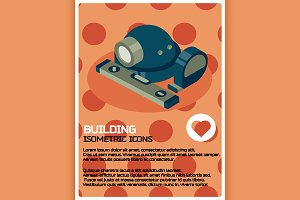 Building color isometric poster