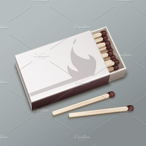 Opened box of matches
