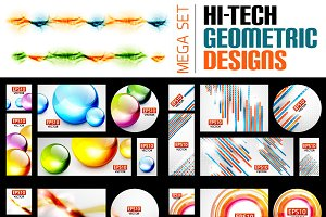 Hi-tech geometric designs set