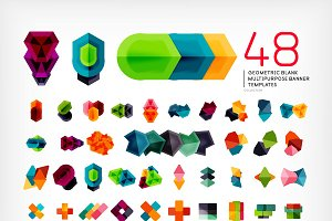 Mega set of geometric banners