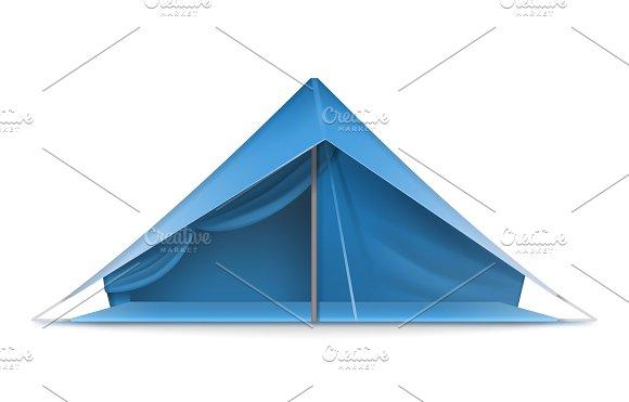 Blue tourist tent