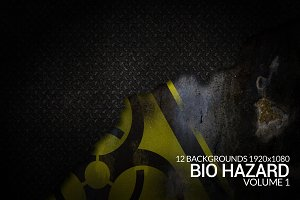 12 Bio Hazard Grunge Backgrounds