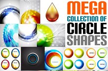 Mega collection of circle shapes