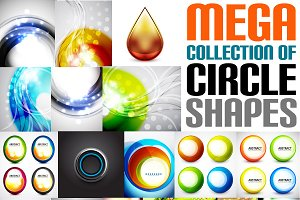 Mega collection of circle shapes