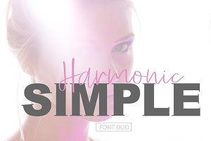SIMPLE Harmonic Font Duo