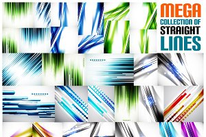 Mega collection of straight lines