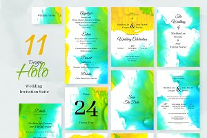 Holo. Wedding Invitation Package