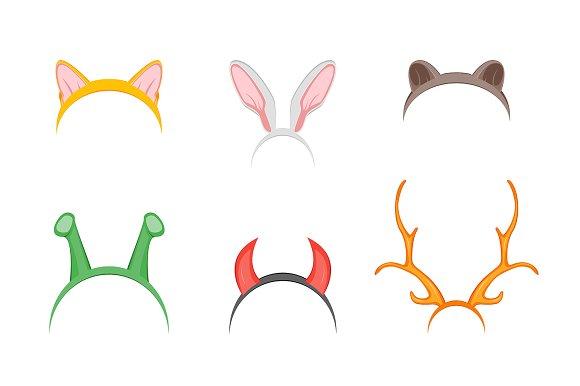 Headband with Ears Holiday Set.