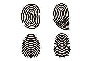 Fingerprints Set. Vector
