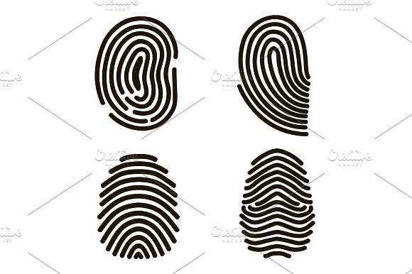Fingerprints Set. Vector