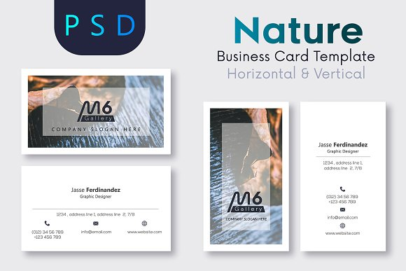 Nature business card template s31 business card templates nature business card template s31 business card templates creative market reheart Gallery