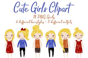 Blonde Girl Fashion Clipart in PNG
