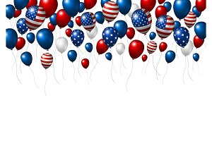 USA or America balloon design