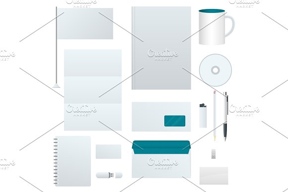 Corporate identity template set. Branding design. Blank template. Business stationery mock-up. For graphic designers presentations and portfolios.