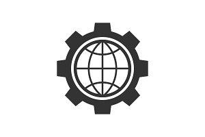 Global setting black icon