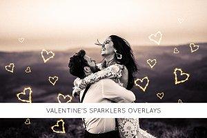 Valentine's sparklers Overlays
