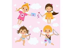 Cute Valentines day Cupids