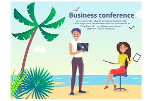 Business Conference People Vector Illustration