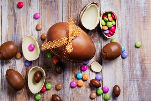Easter chocolate egg