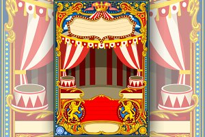 Circus Cartoon Vector Decoration
