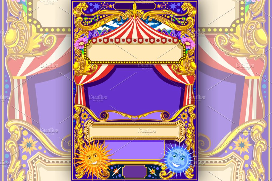 Circus Frame Vector Background ~ Illustrations ~ Creative Market