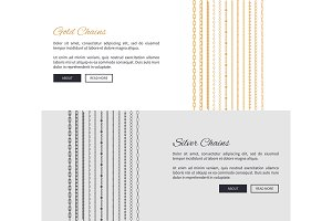 Gold and Silver Chains Page Vector Illustration