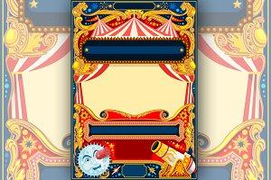 Circus Vector Frame Template
