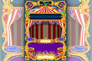 Circus Wallpaper Vector Frame